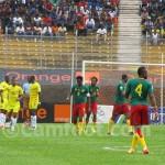 Match Cameroun -  Togo comptant pour les éliminatoires de la la prochaine coupe du monde qui se jouera au Brésil en 2014. Photo: @ Camfoot