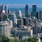 Downtown Montreal, Quebec, Canada, North America.