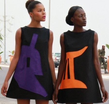 Des modèles du styliste camerounais Imane Ayissi.