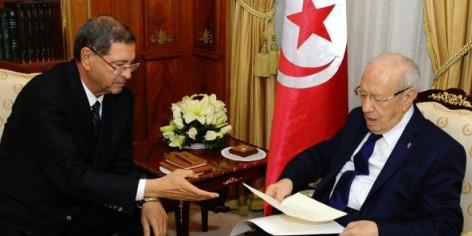 Le Premier ministre Habib Essid et le président tunisien Béji Caïd Essebsi, le 23 janvier à Tunis.