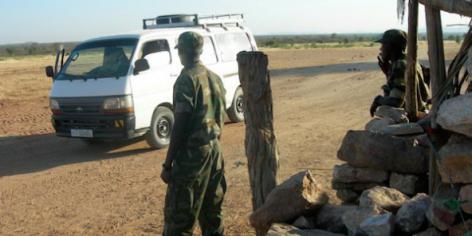 Des soldats éthiopiens à la frontière érythréenne le 5 novembre 2008.