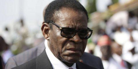 Teodoro Obiang Nguema Mbasogo à Abuja, au Nigeria, le 29 mai 2015.