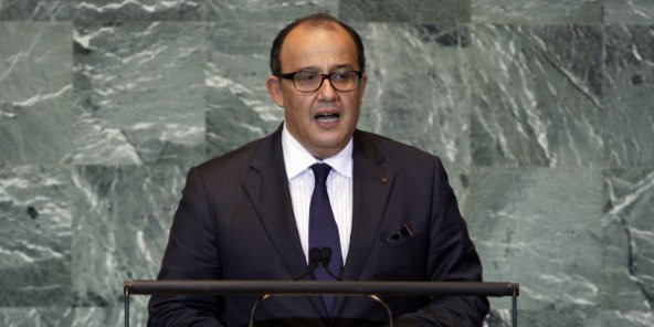 Le conseiller du roi, Taïeb Fassi Fihri, à l'ONU en septembre 2011.
