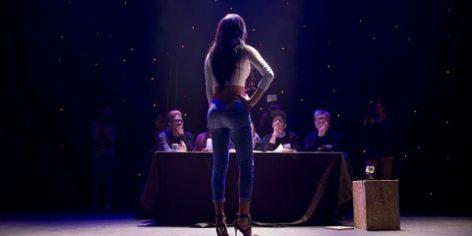 Une candidate lors des auditions de Miss Trans Star International en Israël le 3 mars