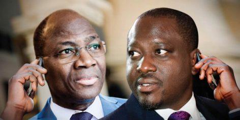 Djibrill Bassolé (à g.) et Guillaume Soro se connaissent depuis longtemps. Ils n'ont pas nié s'être parlé à plusieurs reprises en septembre.
