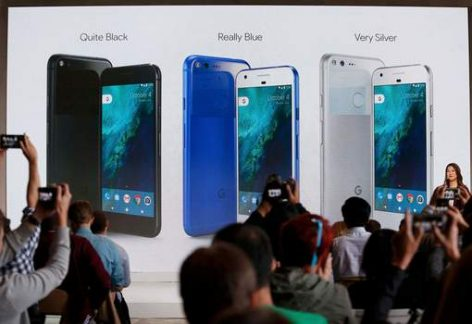 Sabrina Ellis speaks about the new Pixel phone during the presentation of new Google hardware in San Francisco