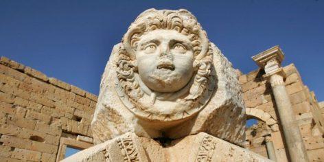 Le site archéologique de Leptis Magna, en Libye