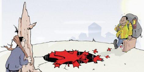 Les routes de l'immigration vers le Canada sont pavées d'escroqueries.
