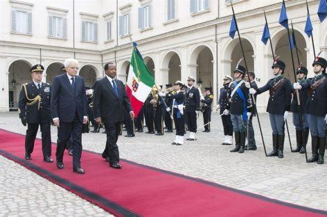 Paul Biya et Sergeo Mattarella - Rome, 20/03/2017