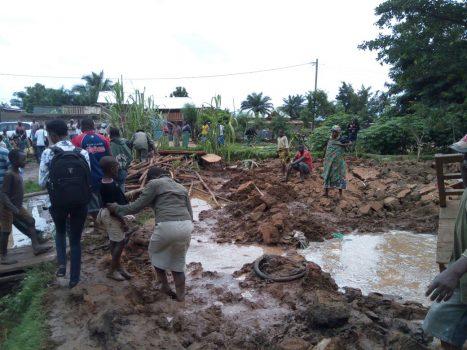 Des inondations suite aux fortes pluies