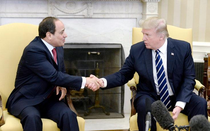 Donald Trump et Abdel Fattah al-Sissi à la Maison Blanche le 3 avril 2017