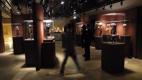 Le musée Dapper consacré à l'art africain, ici en 2000, fermera définitivement ses portes le 18 juin 2017. © PHILIPPE DESMAZES / AFP