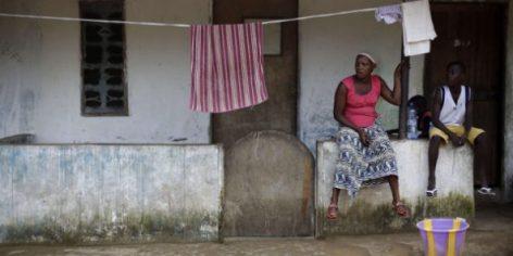 A Monrovia, au Liberia, en octobre 2014, alors que le virus Ebola faisait encore de nombreuses victimes. © Jerome Delay/AP/SIPA