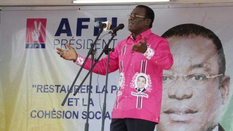 Pascal Affi N'Guessan, chef du Front populaire ivoirien, en 25 octobre 2015. © REUTERS/Thierry Gouegnon