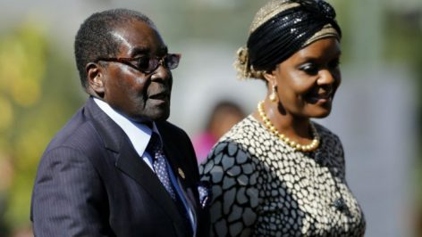 Robert Mugabe avec son épouse Grace
