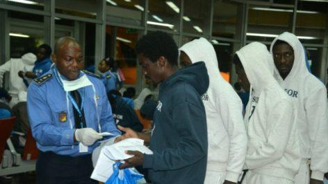 Arrivée de migrants camerounais rapatriés de Libye