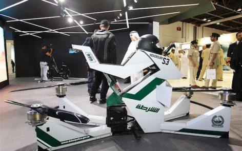 La police de Dubaï a un nouveau petit «joujou» : une moto volante.