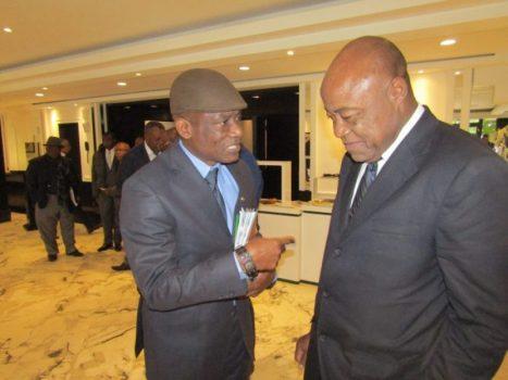 Le Ministre Bidoung M et Joseph Antoine Bell au Maroc