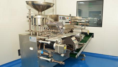 ue d'une machine de la nouvelle usine, à Douala. Crédit image: Africure Pharmaceuticals Cameroon SA