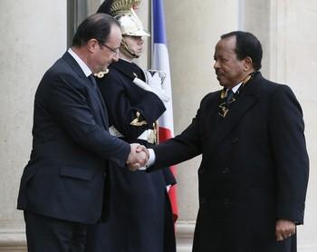 Biya reçu à l'élysée
